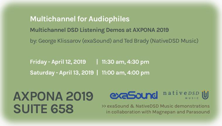 Multichannel Demostration - AXPONA 2019 - exaSound