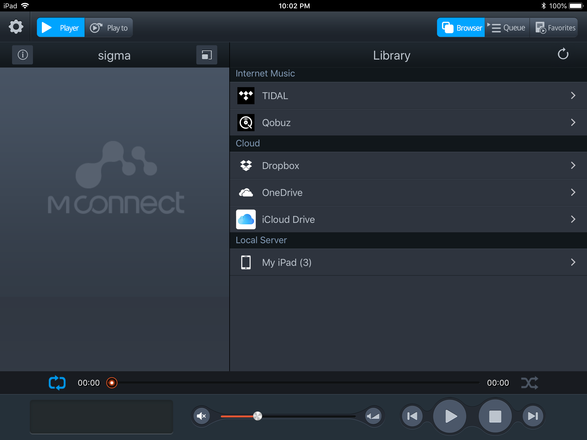 Using Tidal and Qobuz with Mconnect Player HD and exaSound